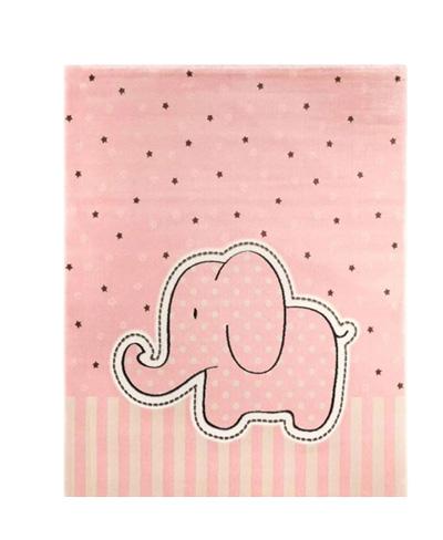 موکت اتاق بچه طرح فیل صورتی
